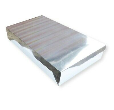 50 Medium Silver Holographic Shirt Boxes, Garments Gifts Lingerie Jewellery