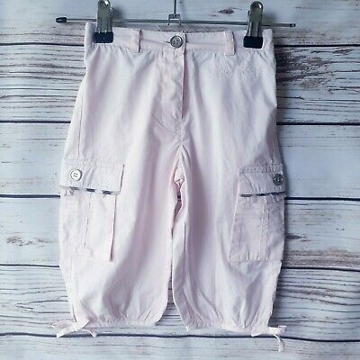 Girls Genuine  Burberry 3/4  Pink Cotton Pants  Trousers Age 2