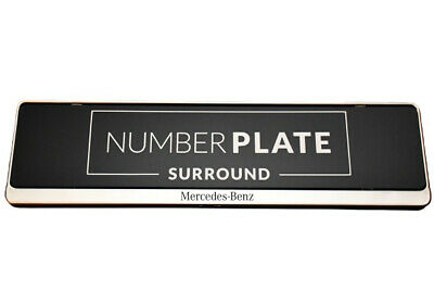 1 x Prestige Chrome Stainless Steel Number Plate Surround for any Mercedes