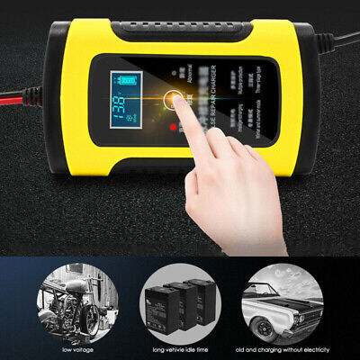 1Pcs Car Motorcycle Battery Charger 110V To 220V To 12V 6A LCD Accessories Parts