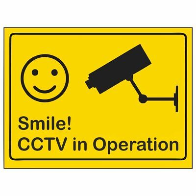 Self-Adhesive Vinyl.Domestic Use.CCTV in Operation Sign.CCTV Sign.Home Security