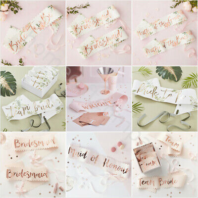 Hen Party Sashes Team Bride To Be Sash I Do Crew Rose Gold Hen Night Accessories