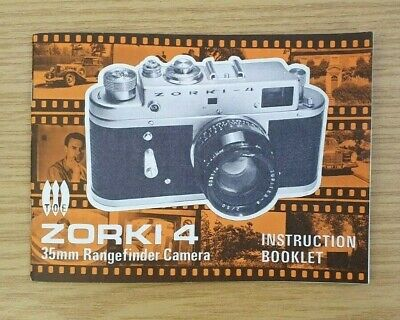 Vintage Zorki 4 Instruction Manual for 35mm Rangefinder Camera (ENGLISH) - VGC