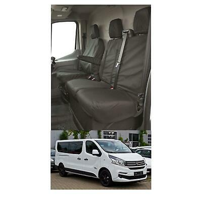 WATERPROOF FULLY TAILORED HEAVY DUTY VAN SEAT COVERS Fits RENAULT TRAFIC 2014 on