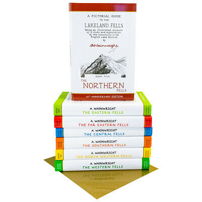 Pictorial Guide To Lakeland Fells Collection 7 Books Box Set 50th Anniversary