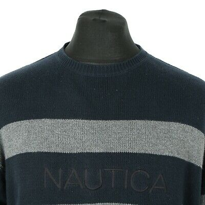 Vintage NAUTICA Spell Out Jumper | Sweater Pullover Retro Top Cotton Spellout