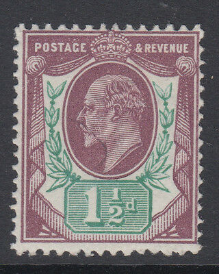 SG 287 1 1/2d  Reddish Purple & Green  in average mint  condition .