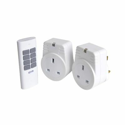 Lloytron A1211WH Remote Controlled Sockets Twin Pack 12 Channel Remote Control.