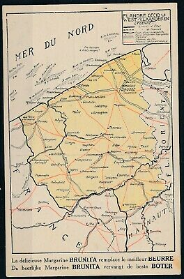 [1183] West-Vlaanderen CPA - Carte