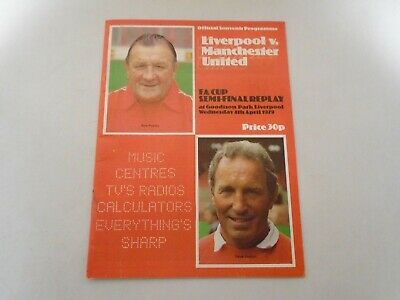 Fa Cup Semi Final Replay 1979 Programme - Liverpool V Man Utd At Goodison Park