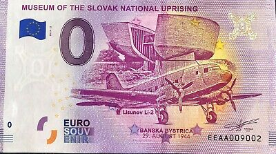 Billet 0 Euro  Museum Of The Slovak National Uprising  2019  Numero Divers
