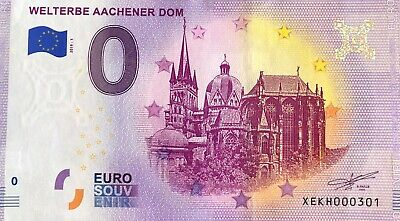 Billet 0 Euro  Welterbe Aachener Dom  Allemagne  2019  Numero Divers