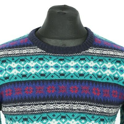 Vintage SCOTCH & SODA Thick Lambswool Jumper | Sweater Pullover Patterned Wool
