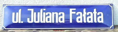 Poland Vintage Enamel Street Sign - ##Juliana Fałata / 5676##