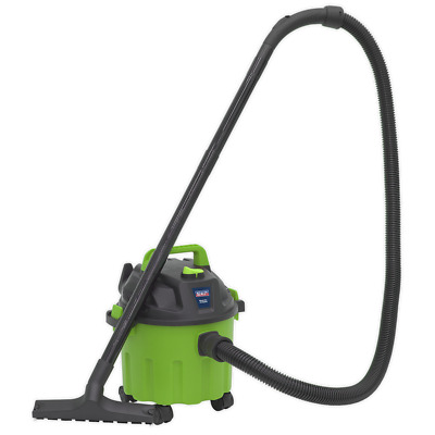 PC102HV Sealey Vacuum Cleaner Wet & Dry 10ltr 1000W/230V Green 10-19ltr Drum