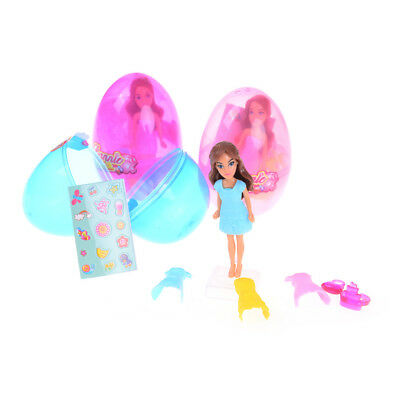 Kid Playhouse Girl Magic Egg Doll Toy s Dress Up Role Play Figure Toy ^P
