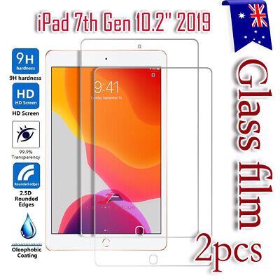 """2X Tempered Glass LCD Screen Protector For Apple iPad 7 /7th Gen 10.2"""" 2019"""