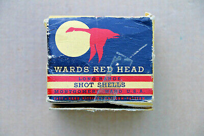 Wards Red Head Long Range 410 Gauge Empty Shotgun Shell Box