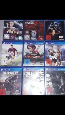 PS4 Spielepaket The Last of us, Call of Duty , UFC2 USK 18 usw. ) Spiele
