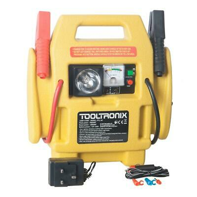 ToolTronix 4-In-1 Car Jump Starter Battery Booster Air Compressor Light Power