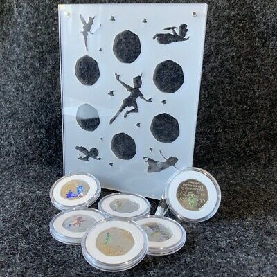 Peter Pan 50p Coin Perspex Display + FREE Coloured Decals, with or without Coins