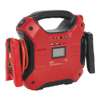 SL32S Sealey Jump Starter Power Pack Lithium Iron Phosphate 12/24V 1200/600 Amps