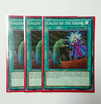 3x Called by the Grave FLOD-EN065 Common - Yugioh