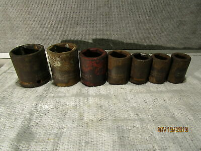 Vintage Proto 7 Pc Professional 6 Point Sockets