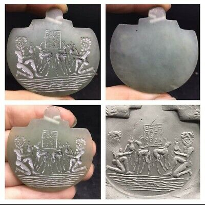 Very Ancient History Intaglio Jade Stone Beautifull Pendent