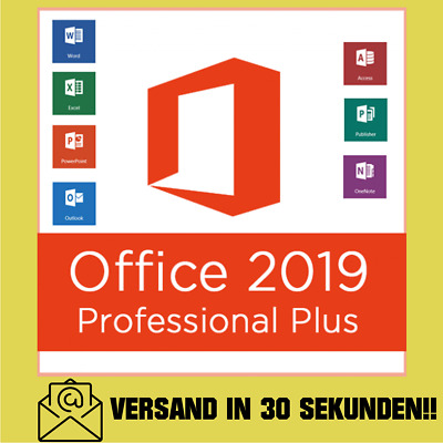 Microsoft Office 2019 Professional Plus PRO Key 32/64 BIT Lizenzschlüssel !!!