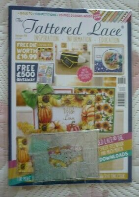 Tattered lace magazine 70 with Autumn Frame die - LATEST ISSUE