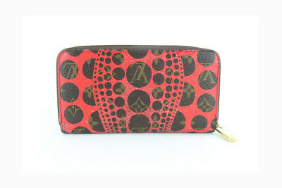 Louis Vuitton Limited Edition Red Yayoi Kusama Monogram Pumpkin Dots Zippy
