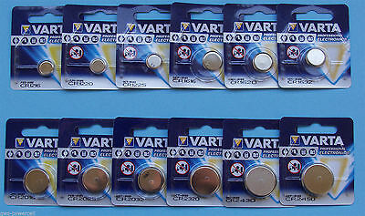 Button Cells varta Cr Rows 1216/1220/1225/ 1616/1620/1632/2016 /2025 /2032/