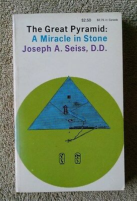 1976 The Great Pyramid A Miracle in Stone Joseph Seiss VG+ PB Egypt