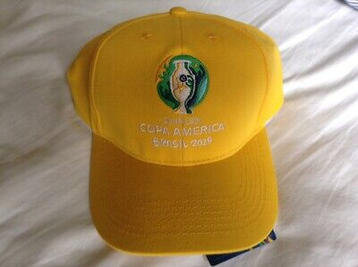 COPA AMERICA BRASIL 2019 - OFFICIAL BASEBALL CAP (yellow/white) *BNWT*