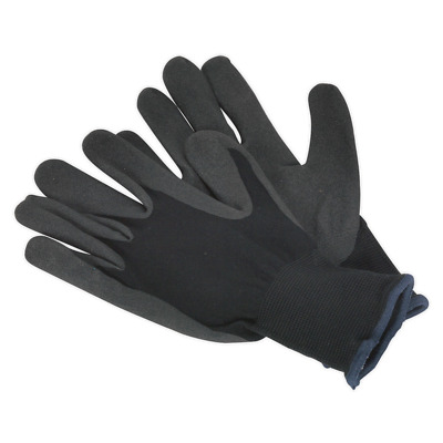 SSP62LD Sealey Nitrile Foam Palm Glove - Large - Pack of 12 Pairs