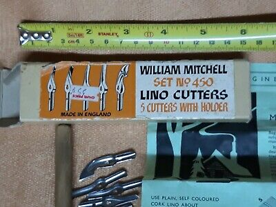 William Mitchell 450 vintage lino cutters. The London Pen Co. Unused, boxed.