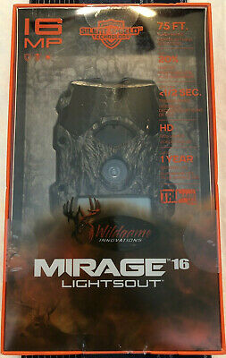 NEW - Wildgame Innovations Mirage 16 Lightsout 16MP Video Hunting Game Camera