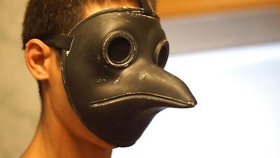 Plague Doctor mask Medieval Mask Cosplay Steampunk Bird Reaper Hood Custom made