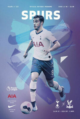 Tottenham Hotspur ( Spurs ) v Crystal Palace Programme 14th September 2019