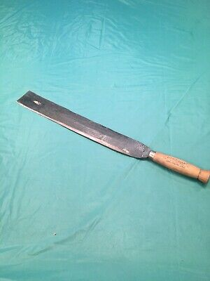 "Primitive Antique Machete old vtg corn knife farm barn tool ""Little Giant"""