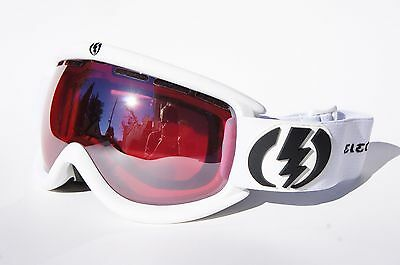 New ELECTRIC EG.5S GLOSS WHITE SILVER CHROME MIRROR LENS SKI SNOW GOGGLES