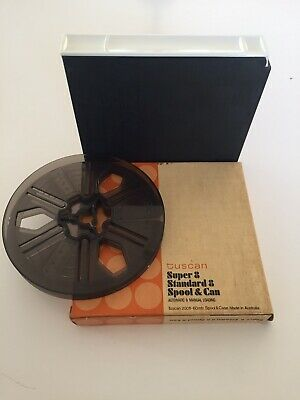 Tuscan Movie Reel 8mm New Super 8mm & Standard 8mm   Cased Film Reel. FREE POST