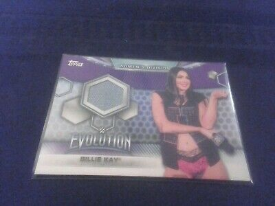 2019 TOPPS WWE Womens Division Billie Kay EVENT-USED CANVAS  MAT RELIC 79/99
