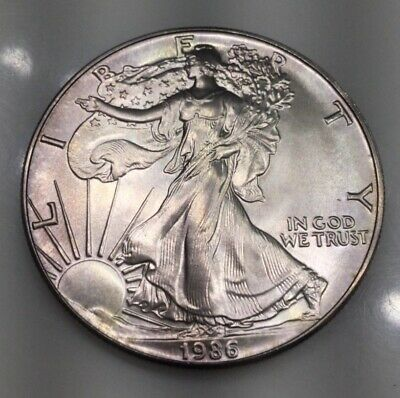 1986 American Silver Eagle Dollar Uncirculated