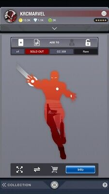 Topps Marvel Collect Digital Silhouette Weekly Set w/ Awards! Iron Man SOLD OUT