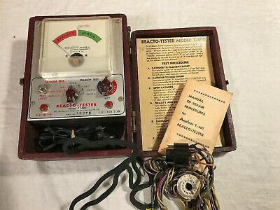 Cathode Ray Tube Tester  Anchor Reacto-Tester Model T-400 With Case & Manual