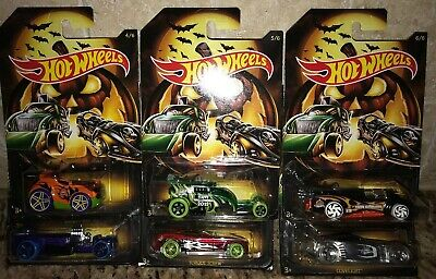 Hot Wheels Halloween 2019 Edition Set Of 6 Cars In Stock Now! Holiday Series HTF