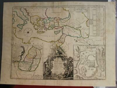 Israel Holy Land Eastern Mediterran 1747 (1797) Vaugondy/Delamarche Antique Map