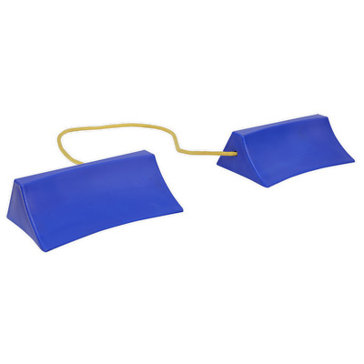 WC15 Sealey Plastic Wheel Chocks - Pair [Ramps & Chocks]